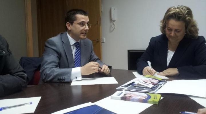 CEOE-CEPYME Guadalajara y el ayuntamiento de Alovera mantienen una reunión de trabajo
