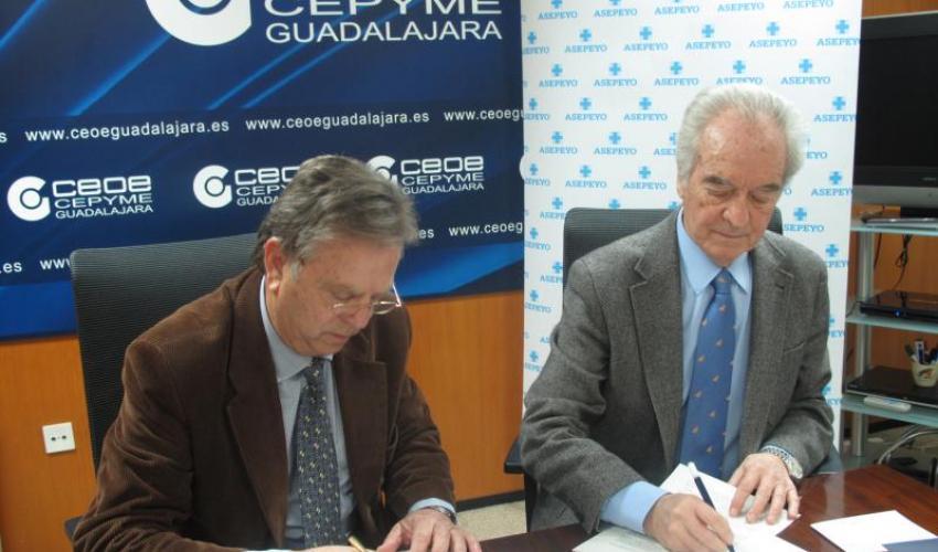 Asepeyo y CEOE-CEPYME Guadalajara firman un acuerdo de colaboración