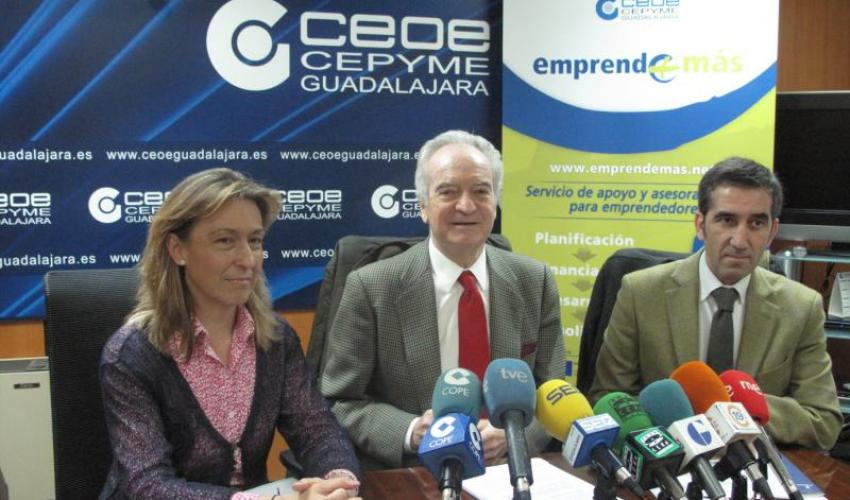 CEOE-CEPYME Guadalajara presenta el proyecto Emprende+más
