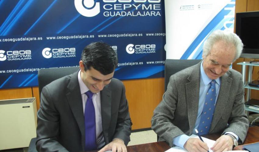 CEOE-CEPYME Guadalajara e Ibermutuamur firman un convenio de colaboración