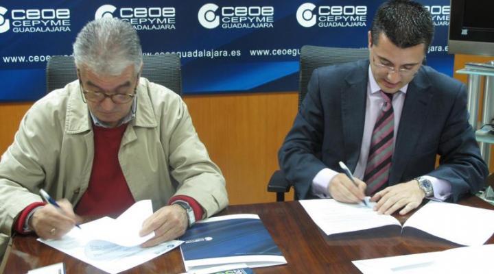 CEOE-CEPYME GUADALAJARA y el Colegio Oficial de Ingenieros Industriales de Guadalajara firman un convenio de colaboración con el programa de socio a socio