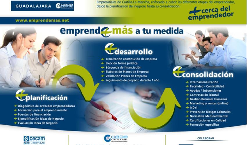 CEOE-CEPYME Guadalajara inicia sus jornadas informativas de Emprende+Más en la provincia