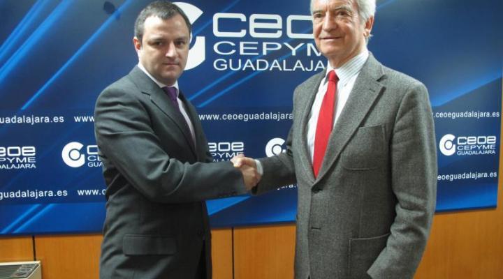 CEOE-CEPYME Guadalajara firma un convenio de colaboración facilitar a sus asociados el estudio del ahorro de costes en su factura energética
