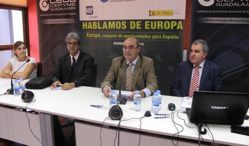 """CEOE-CEPYME Guadalajara presenta la Estrategia 2020 en una nueva jornada del ciclo """"Hablemos de Europa"""""""