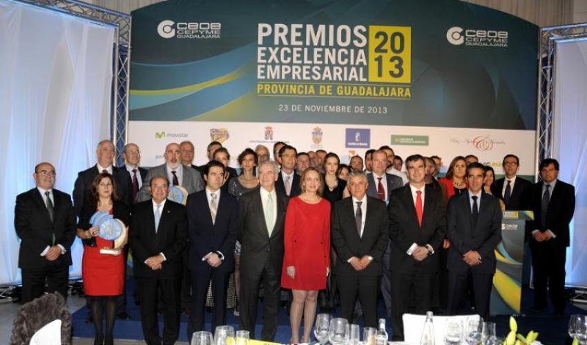 CEOE-CEPYME Guadalajara entrega sus Premios Excelencia Empresarial 2013