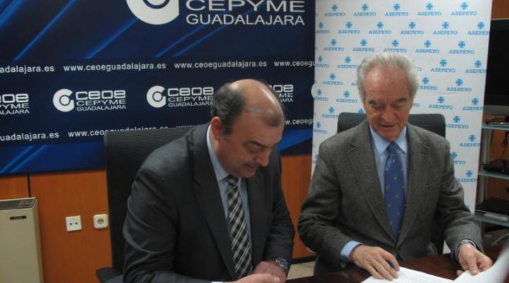 CEOE-CEPYME Guadalajara y la sociedad de prevención de Asepeyo trabajarán juntos por la seguridad y salud de los trabajadores