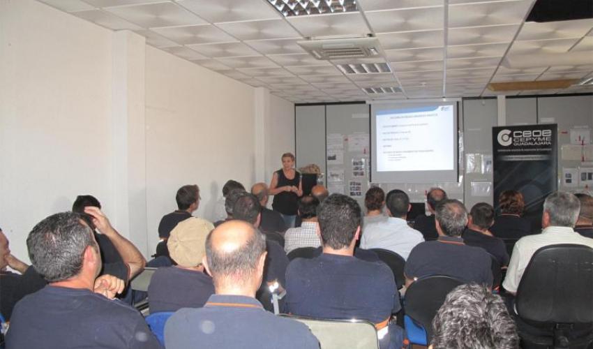 CEOE-CEPYME Guadalajara imparte una jornada sobre seguridad vial laboral