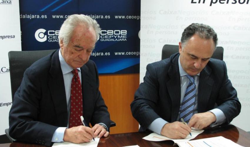 CaixaBank y CEOE-CEPYME Guadalajara ponen a disposición de las empresas una línea de financiación de 50 millones de euros