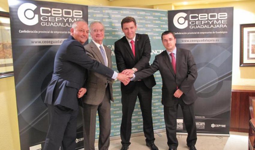 Caja Rural Castilla-La Mancha respalda la labor formativa y divulgativa de CEOE-CEPYME Guadalajara