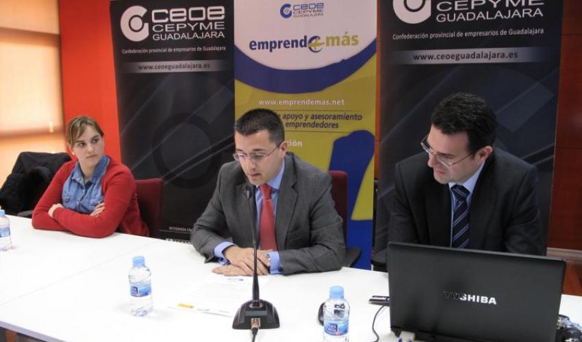 CEOE-CEPYME Guadalajara presenta el programa Emprende+Ban