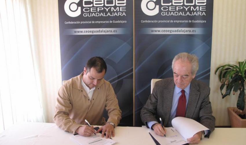 CEOE-CEPYME Guadalajara renueva su convenio de colaboración con la empresa alcarreña Enerspain