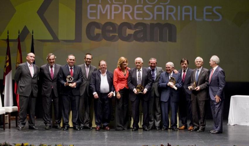CECAM destaca el papel imprescindible de los empresarios de la región en sus XI premios empresariales