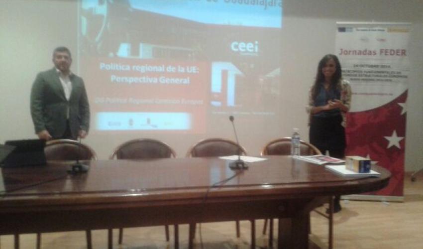Los técnicos del CEEI de Guadalajara se trasladan hasta Trillo para explicar los fondos FEDER