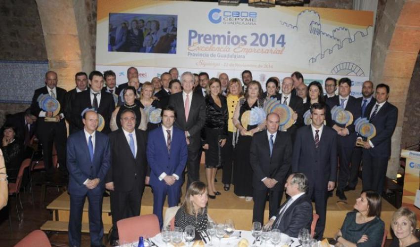 CEOE-CEPYME Guadalajara celebra con gran éxito su entrega de los premios Excelencia Empresarial 2014