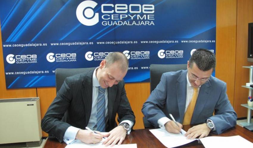 CEOE-CEPYME Guadalajara y Prodatos firman un convenio de colaboración