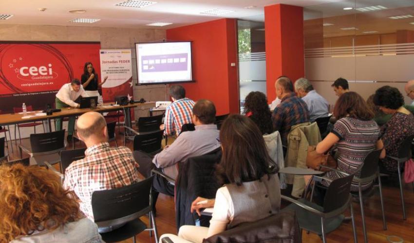 El programa Erasmus Plus centra la jornada de los fondos FEDER en el CEEI de Guadalajara