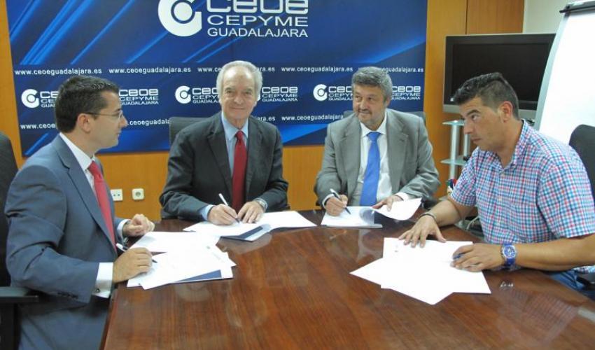 CEOE-CEPYME Guadalajara y el centro demostrador TIC de Castilla-La Mancha, gestionado por FEDETICAM, firman un convenio de colaboración