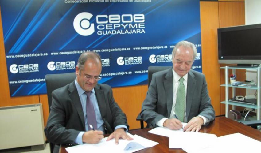 Gas Natural Castilla-La Mancha y CEOE-CEPYME Guadalajara renuevan un año más su colaboración