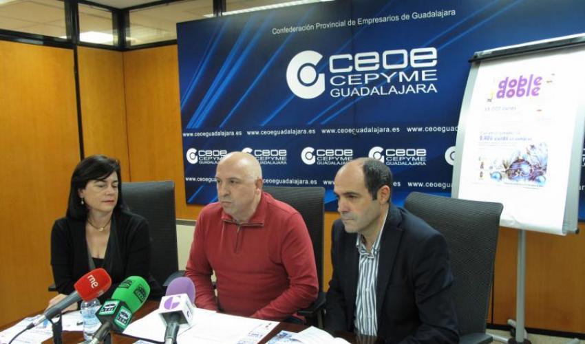 """La Federación de Asociaciones de PYMES y Autónomos de Comercio de la Provincia de Guadalajara (FEDECO) presenta la campaña """"El doble, doble de Navidad"""""""