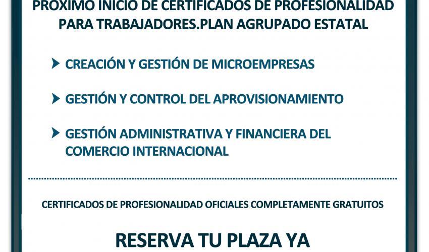 CEOE-CEPYME Guadalajara ofrece, gratuitamente, tres cursos para obtener  el certificado de profesionalidad oficial