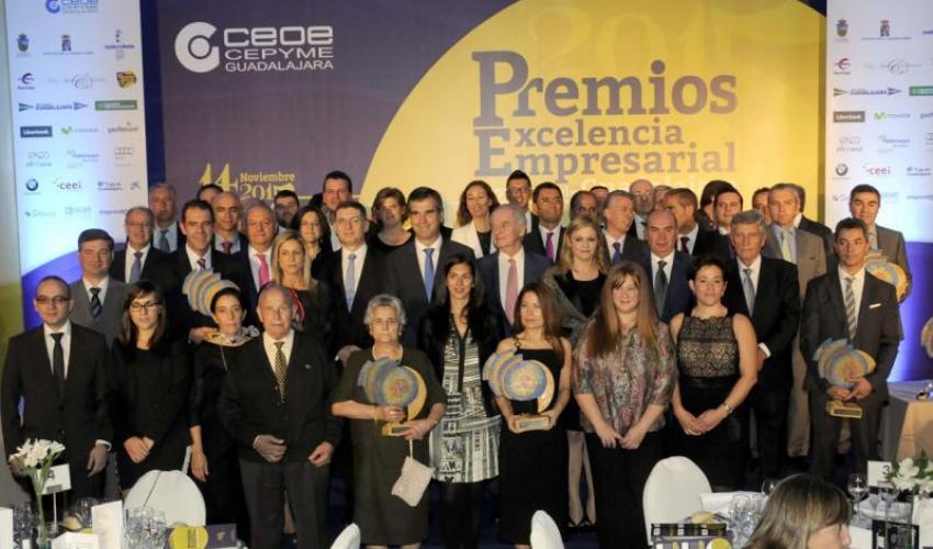 CEOE-CEPYME Guadalajara celebra con gran éxito su entrega de los Premios Excelencia Empresarial 2015