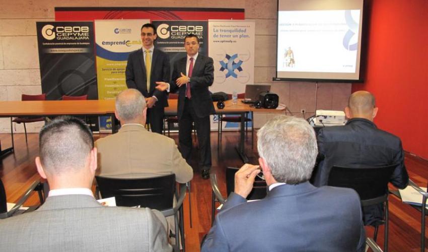 El programa Emprende+Mas de CEOE-CEPYME Guadalajara informa a los empresarios sobre la planificación patrimonial