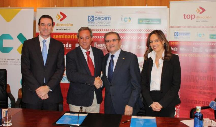 CECAM y la fundación Caja Rural Castilla-La Mancha renuevan el convenio de colaboración para la formación de empresarios de la región