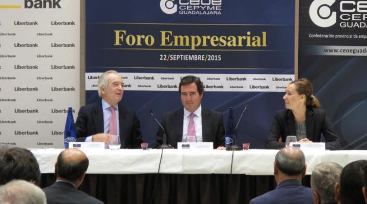 """Antonio Garamendi se refiere a las PYMES como """"las empresas del día a día"""" en el foro empresarial de CEOE-CEPYME Guadalajara"""