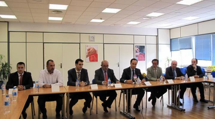 Conway muestra al presidente de la Diputación y al director del IPEX su apuesta por la logística y por la provincia de Guadalajara