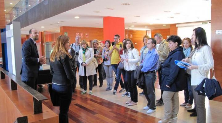 Un grupo de funcionarios del Servicio Público de Empleo de Rumanía visitan el CEEI de Guadalajara y se les muestra cómo funciona el departamento de formación de CEOE-CEPYME Guadalajara