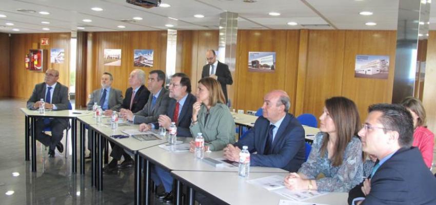CEOE-CEPYME Guadalajara acompaña al presidente del Gobierno en funciones, Mariano Rajoy, durante su visita a la empresa Witzenmann