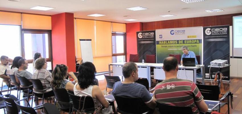 El crecimiento y consolidación de las PYMES, a través de instrumentos europeos, centra la primera de las jornadas de Hablemos de Europa de CEOE-CEPYME Guadalajara