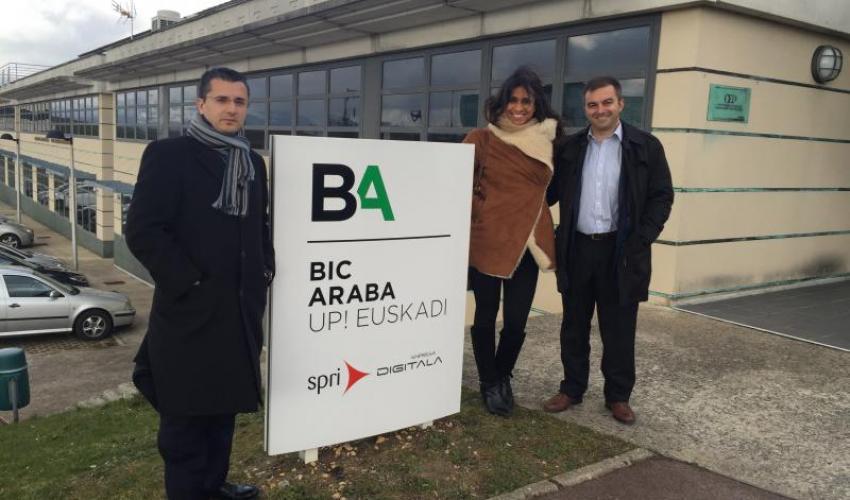 Los técnicos del CEEI de Guadalajara visita el BIC francés de ESTIA Emprende
