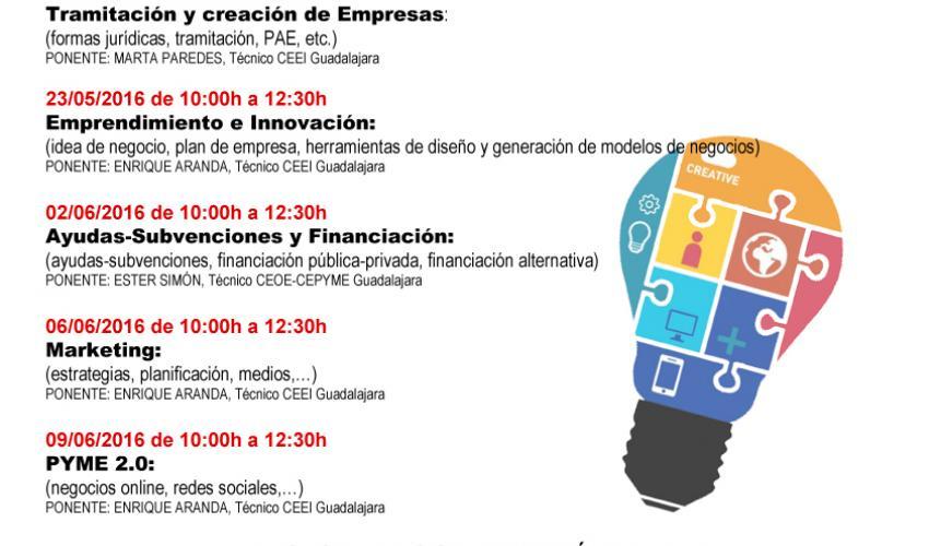 El CEEI de Guadalajara desarrollará cinco jornadas de emprendimiento y autoempleo en colaboración con el Ayuntamiento de Torrejón del Rey