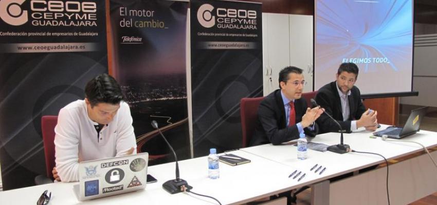 """CEOE-CEPYME Guadalajara y Telefónica organizan la jornada """"Seguridad es una cosa de dos"""""""