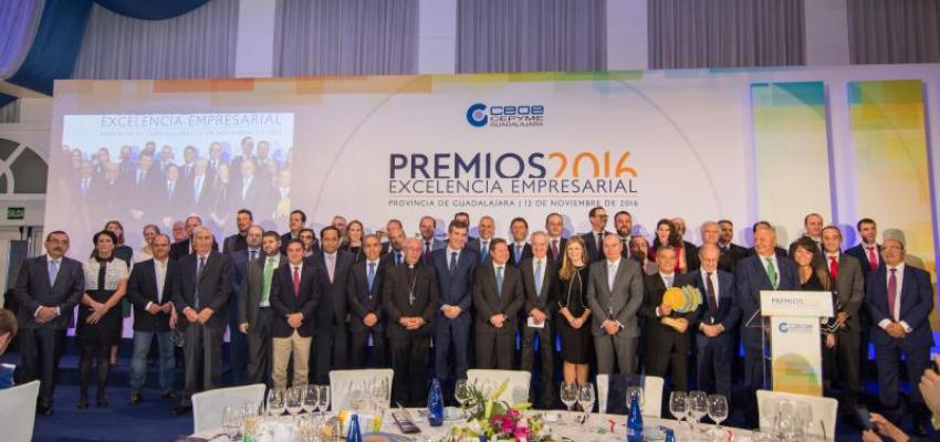 CEOE-CEPYME Guadalajara celebra con gran éxito su entrega de los Premios Excelencia Empresarial 2016