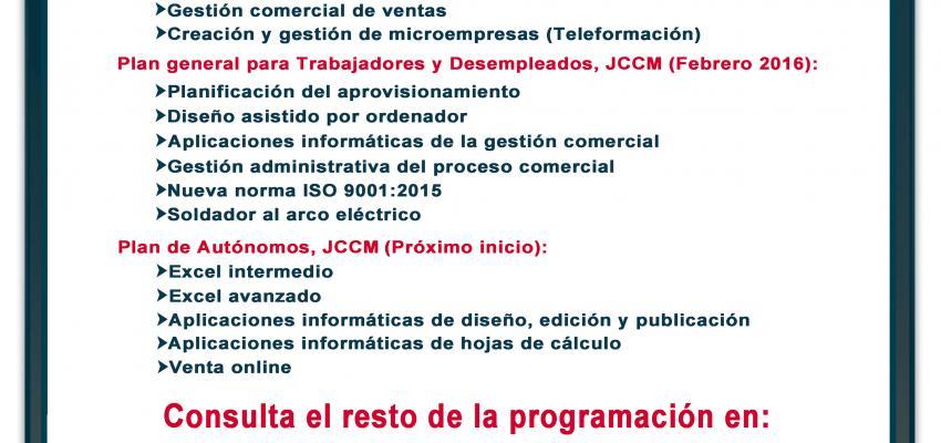 El departamento de Formación de CEOE-CEPYME Guadalajara programa 31 nuevos cursos