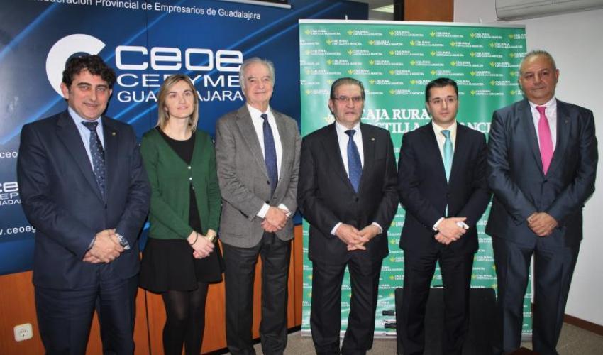 Caja Rural Castilla-La Mancha y CEOE-CEPYME Guadalajara estrechan su colaboración corporativa