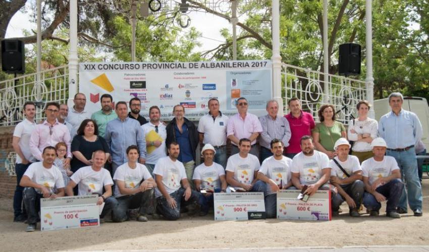 Pablo Conchuela y Alfonso de las Heras, ganadores de la paleta de oro XIX Concurso de Albañilería