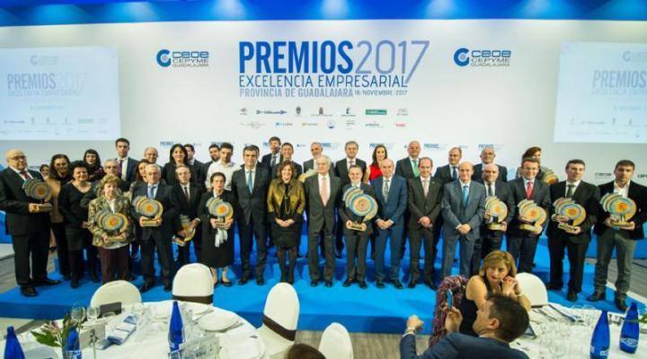 CEOE-CEPYME Guadalajara celebra con gran éxito su entrega de los Premios Excelencia Empresarial 2017