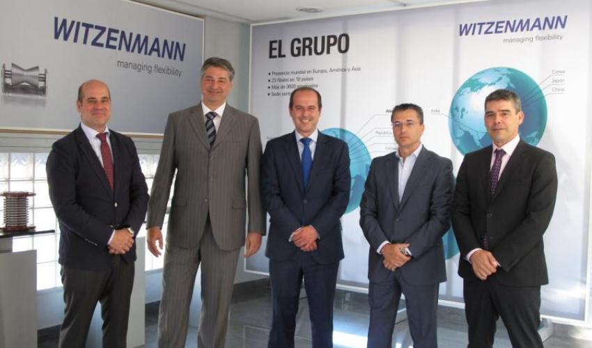 El director general de Empresas, Competitividad e Internacionalización, junto con el secretario general de CEOE-CEPYME Guadalajara, visitan la empresa alcarreña Witzenmann