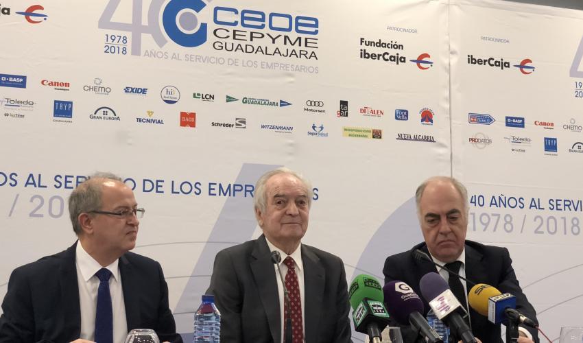 Agustín de Grandes presenta los actos conmemorativos del 40 aniversario de CEOE-CEPYME Guadalajara