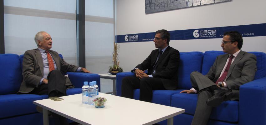 El presidente de CEOE-CEPYME Guadalajara se reúne con el subdelegado del Gobierno para trasladarle las inquietudes y peticiones de las empresas alcarreñas