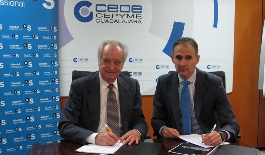 CEOE-CEPYME Guadalajara y Banco Sabadell renuevan su convenio de colaboración