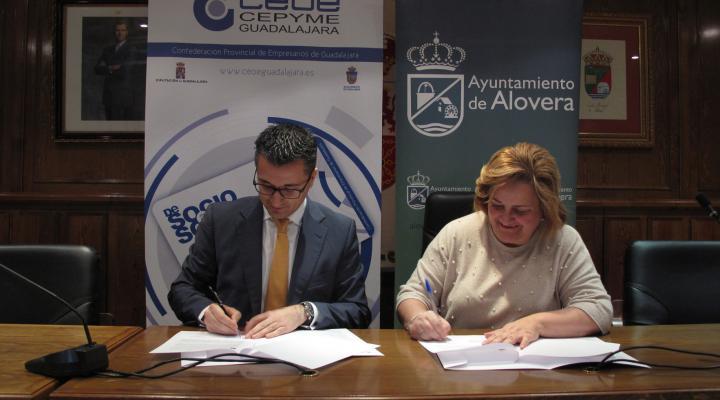 El Ayuntamiento de Alovera se suma al proyecto &#x201Cde Socio a Socio&#x201D de CEOE-CEPYME Guadalajara