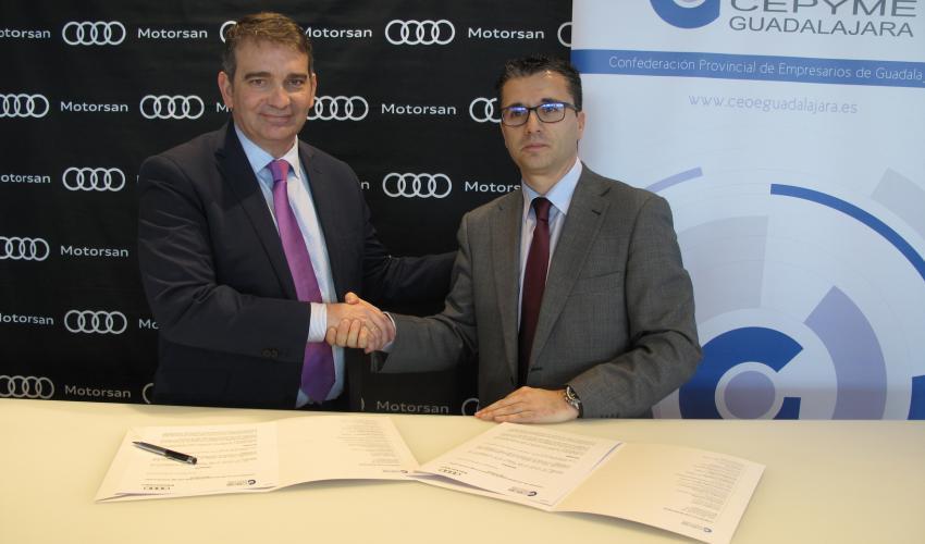 CEOE-CEPYME Guadalajara y Motorsan-Audi firman un convenio de colaboración