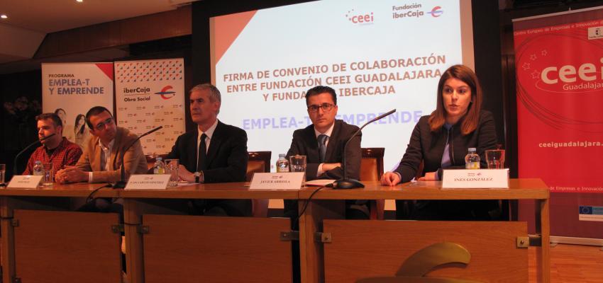 La fundación Ibercaja renueva su colaboración con la Fundación CEEI Guadalajara para desarrollar el Programa Emplea-T y Emprende