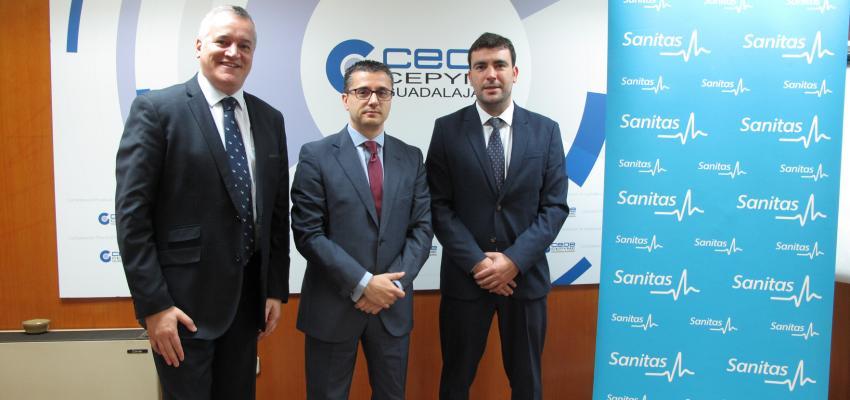 CEOE-CEPYME Guadalajara y Sanitas firman un convenio de colaboración