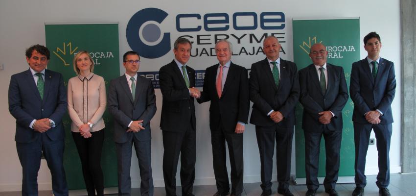 Eurocaja Rural apoya la acción formativa e informativa de CEOE CEPYME Guadalajara