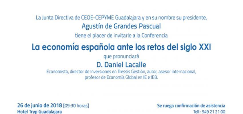 El prestigioso economista, Daniel Lacalle, será el invitado en el desayuno empresarial de CEOE-CEPYME Guadalajara